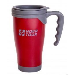 Термокружка NOVA TOUR Сильвер 400 мл цвет красный/серый