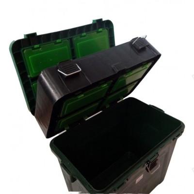 Ящик зимний ТРИ КИТА 19 литров двухсеционный, фото