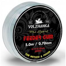 """Фидергам Волжанка """"Feeder Gum"""" 0.5 мм. 5м прозрачный"""