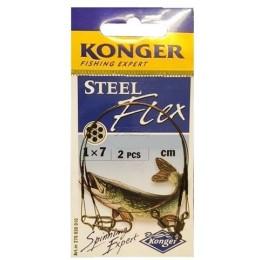 Поводки Konger 1*7 Steelflex 10кг/22см (2 шт)