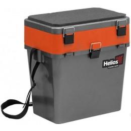 Ящик зимний Helios 19л односекционный серый/оранжевый (HS-IB-19-GO-1)