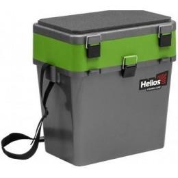 Ящик зимний Helios 19л серый/салатовый