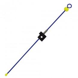 Кивок-сторожок Три Кита М-4Ф@ синий (унив.часовая пружина полимер.покр. с бусинкой) 135мм (1.0-5.0г)