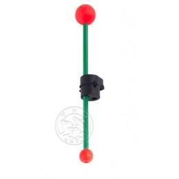 Кивок-сторожок Три Кита В-1Ф+2@ витой полимер зелёный 85мм 2-3гр