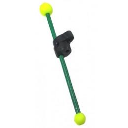 Кивок-сторожок Три Кита В-2Ф+2@ витой полимер зелёный 85мм 3-4гр