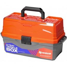 Ящик для снастей Tackle Box трехполочный NISUS оранжевый (N-TB-3-O)
