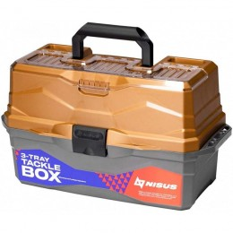 Ящик для снастей Tackle Box трехполочный NISUS золотой (N-TB-3-GO)