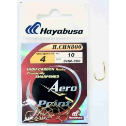 Крючок одинарный HAYABUSA H.CHN-800 № 02 (золото)