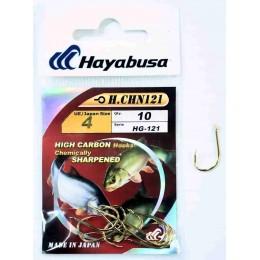 Крючок одинарный HAYABUSA H.CHN-121 № 01 (золото)