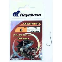 Крючок одинарный HAYABUSA HNO-1200 RYUSEN-2BH № 04 (белый никель)