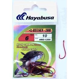 Крючок одинарный HAYABUSA HRO-1200 RYUSEN-2BH № 02 (красный)