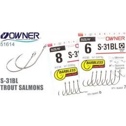 Одинарный крючок OWNER SBL-31 SPINNER TROUT SALMONS № 08