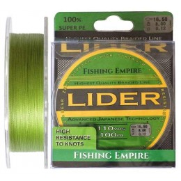 Плетенка Fishing Empire Lider Navy Green 100 м 0.10 мм