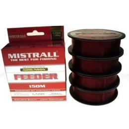 Леска Mistrall ADMUNSON FEEDER 150м 0.40мм 0.40кг цвет красный
