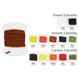 Материал для вязки мушек Akara Cactus Chenille MM- 1 3.0 м black
