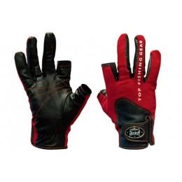 Перчатки спиннингиста Alaskan двухпалые Red/BL