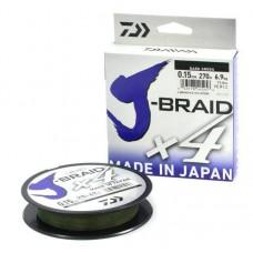 Плетенка DAIWA J-Braid X4 0,10мм/135м (зеленая)