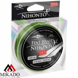 Плетенка MIKADO NIHONTO FINE BRAID 0.18мм/100м (зеленая)