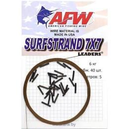 Поводочный материал AFW 7x7 9 кг (5м) + обжимные трубки 40 шт