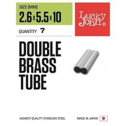 Трубочки обжимные LJ Pro Series DOUBLE LEADER SLEEVER 007, длина 06мм 10шт.