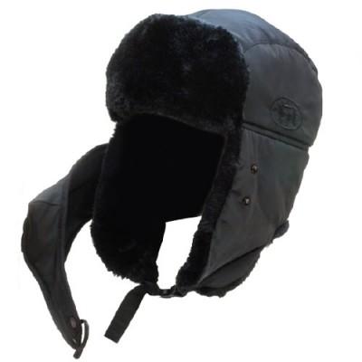 Шапка Alaskan DogSalmon с мехом и маской черная AWC1605B, фото