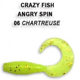 """Силиконовая приманка Crazy Fish Angry spin 1"""" цвет 6 (8 шт) кальмар"""