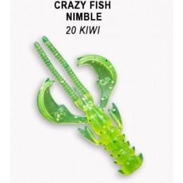 """Силиконовая приманка Crazy Fish Nimble 1.6"""" цвет 20 (9 шт)"""