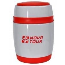 Термос NOVA TOUR Ланч 380 мл цвет серый/красный