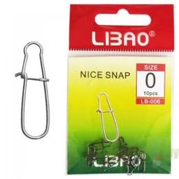 "Застежка LIBAO LB-006 NICE SNAP # ""0"""