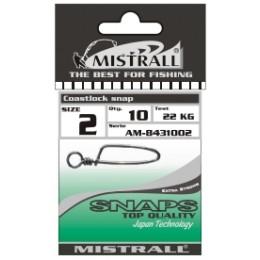 Застежка MISTRALL AM-84310 COASTLOCK SNAP # 01