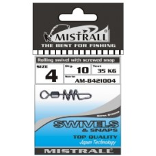 Застежка-вертлюжок MISTRALL AM-84210 ROLLING WITH SCREWED SNAP # 02