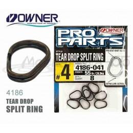 Заводное кольцо OWNER 4186 Tear-drop split ring # 01
